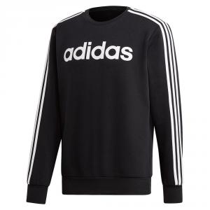 Felpa Adidas E 3s Crew Fl Black/White Logo DQ3084