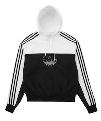 Felpa Adidas Con Cerniera Mixed Hoody Black/White ED6239