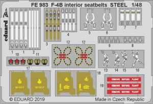 F-4B interior seatbelts STEEL