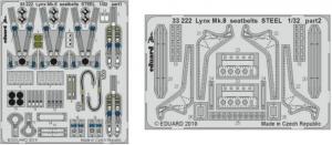 LYNX MK.8 SEATBELTS STEEL