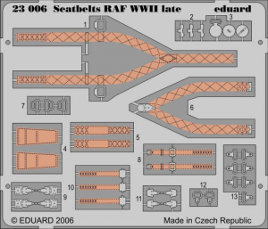 RAF WWII SEATBELTS LATE