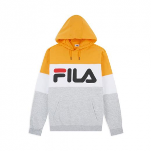 Felpa Fila Con Cappuccio Grey/Yellow/White 687001