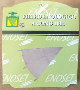 Filtro enologico tela a cono Lt.10 e Lt.20