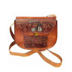 Vintage BORSA tracolla salpa souvenir Abruzzo