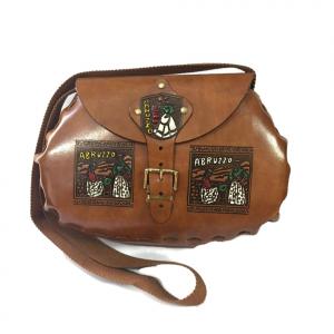 Vintage BORSA con tracollina collezione souvenir Abruzzo