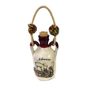 Fiaschetta in ceramica souvenir ABRUZZO
