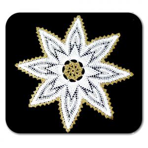 CENTRINO stella bianco e oro per Natale all'uncinetto
