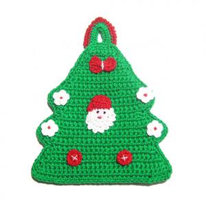 PRESINA albero di Natale con Babbo Natale all'uncinetto