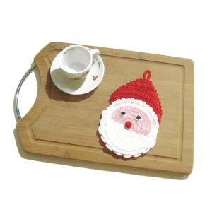 PRESINA faccia di Babbo Natale all'uncinetto