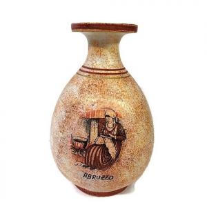 Anfora arancione in ceramica souvenir ABRUZZO