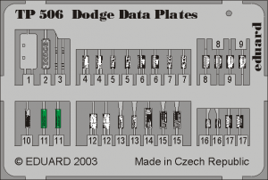 DODGE PLACARDS