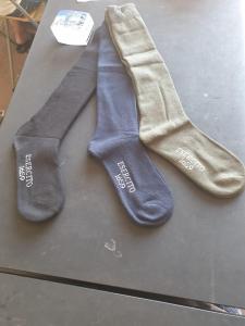Calza lunga spugna tinta unita, set tre calzini