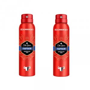 Old Spice Captain Deodorante Spray 150ml Set 2 Parti 2019