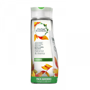 Herbal Essences Daily Detox Volume Orange And Mint Shampoo 2x400ml