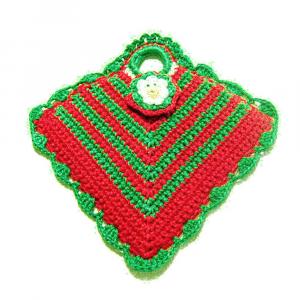 PRESINA rossa e verde per Natale all'uncinetto