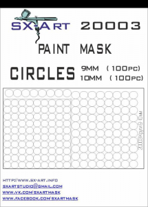 Mask Circles 9mm (100x), 10mm (100x)