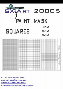 Mask Squares 1mm, 2mm, 3mm