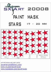 Mask Stars 17 - 20mm