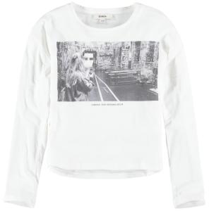 T-Shirt Bianca Con Stampa Ragazza