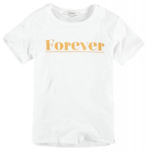 T-Shirt mezza manica Bianca Con Scritta Ragazza