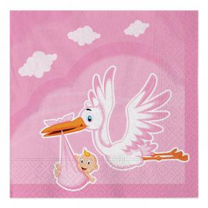Tovaglioli Cicogna Nuvola Rosa