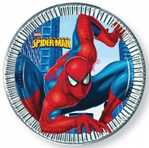 Piatto Spiderman 23 cm