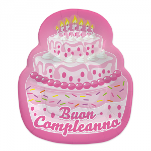 Piatti Sagomati Cake rosa