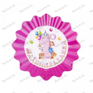 Piatti Primo Compleanno Rosa 27 cm
