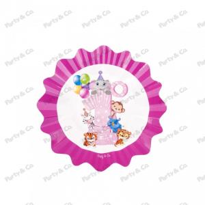 Piatti Primo Compleanno Rosa 21 cm