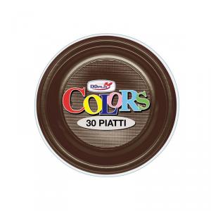 Piatti piani colors Marrone
