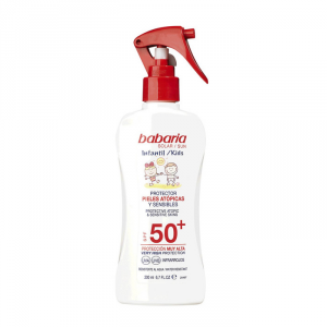 Babaria Sunscreen Spray For Children Atopic & Sensitive Skin Spf50+ 200ml