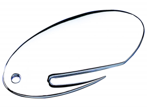 Apribusta ovale placcato argento cm.8,5x4,3x0,5h