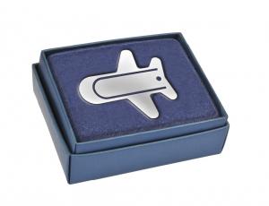 Segnalibro aereo silver plated cm.9x8x0,2h