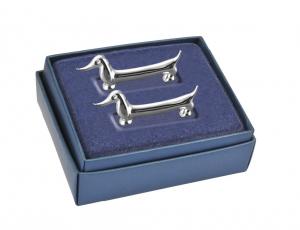Appoggia posate silver plated cagnolino set 2 pz cm.10,7x2x3,7h