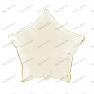 Palloncino mylar stella avorio