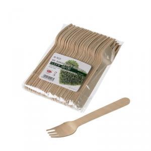 Forchette in legno di betulla naturale