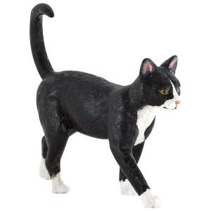 Statuina Animal Planet Gatto bianco e nero
