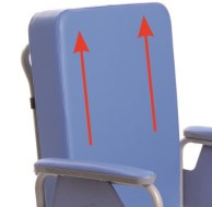Sedia comoda reclinabile servoassistita
