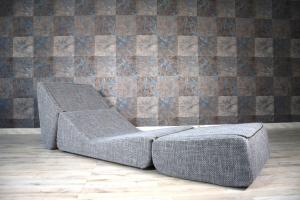 Poltrona twist Concept | Poltrona modulare trasformabile in chaise longue e meridienne - in tessuto anti macchia sfoderabile e lavabile