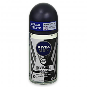 NIVEA MEN Black&White Invisible Deodorante Roll On 50ml