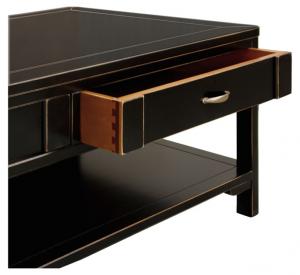 Tavolino da salotto nero spigolato - OFFERTA