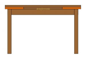Tavolo intarsiato 170 cm allungabile a 250 cm