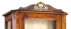 Vetrina argentiera classica con cassetto