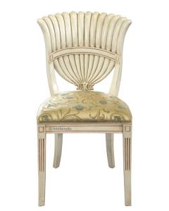 Gruppo tavolo con 4 sedie decorate - pezzo unico