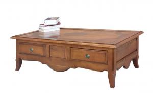 Tavolino massello piano a tasselli