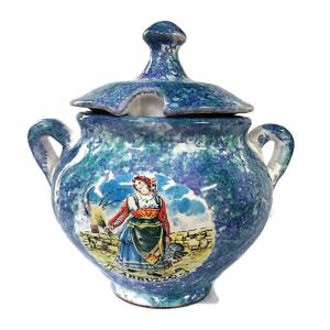 PORTA-ZUCCHERO in ceramica souvenir ABRUZZO