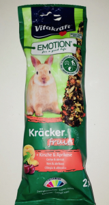 Vitakraft Emotion Kracker per conigli nani  fruit Albicocca e ciliegia 2 pz x 112 gr