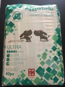 Assorbello Ultra con clorexidina  60x60 cm 40 pezzi
