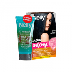 Nelly Dye Crème Intense 1.00 Black Set 2 Parti