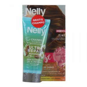 Nelly Dye Crème Intense 7.43 Golden Copper Set 2 Parti